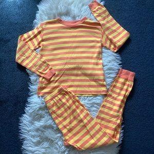 Hanna Andersson orange stripe pajama set 150